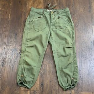 Free People olive green utility joggers